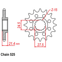 FRONT SPROCKET - STEEL 16T 525P