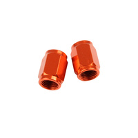 VALVE CAPS TUBE ORANGE STATES MX
