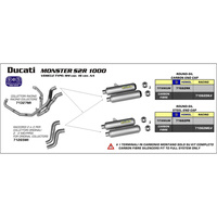 ARROW DUC MNSTR S4R 03-06/ S2R 04-08/ S4RS 06-07 HOM Ti S-OS #MP