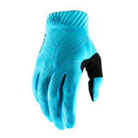 100% Ridefit Ice Blue/Black Gloves