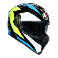 AGV K-5 S Core Black/Cyan/Fluro Yellow