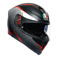 AGV K-5 S Thunder Matt Black/White/Red